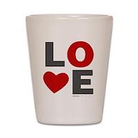 Love Heart Shot Glass