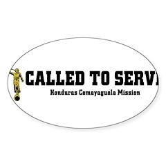 Honduras Comayaguela LDS Miss Sticker (Oval 50 pk)