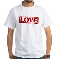 Love Stamp White T-Shirt