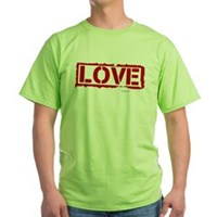 Love Stamp Green T-Shirt