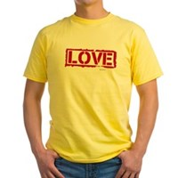 Love Stamp Yellow T-Shirt