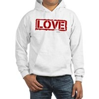 Love Stamp Hooded Sweatshirt