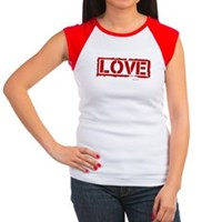 Love Stamp Women's Cap Sleeve T-Shirt