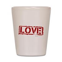 Love Stamp Shot Glass