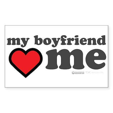 My Boyfriend Loves Me Sticker (Rectangle)