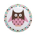 Owl Mod Dotted Ornament Gift