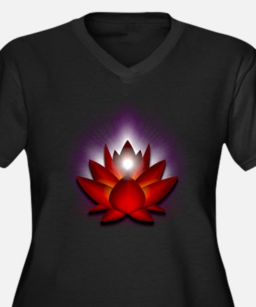 "Red ""Root"" Chakra Lotus Women's Plus Size V-Neck D"