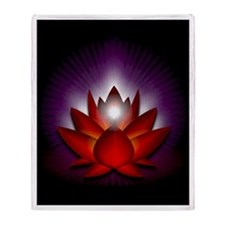 "Red ""Root"" Chakra Lotus Throw Blanket"
