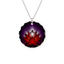 """Red """"Root"""" Chakra Lotus Necklace"""