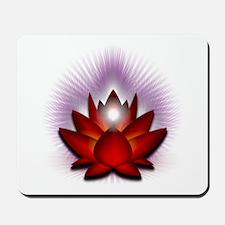 "Red ""Root"" Chakra Lotus Mousepad"