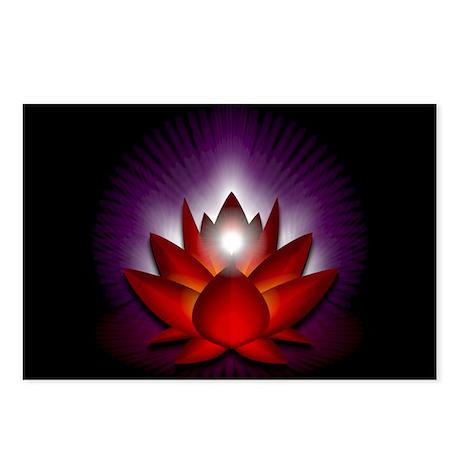 "Red ""Root"" Chakra Lotus Postcards (Packa"