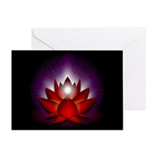"Red ""Root"" Chakra Lotus Greeting Card"
