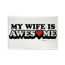 My Wife Is Awesome Rectangle Magnet