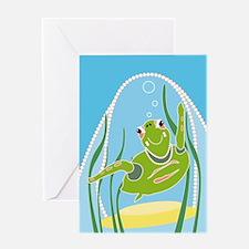 Cute Dive shop Greeting Card