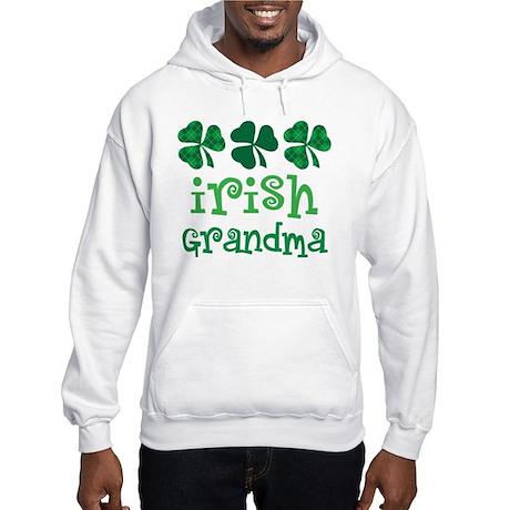 Irish Grandma Shamrock Hooded Sweatshirt