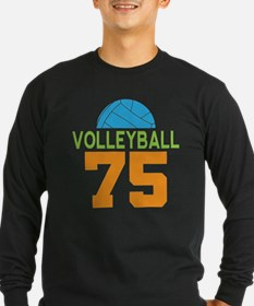 Volleyball Player Number 75 Long Sleeve T-Shirt