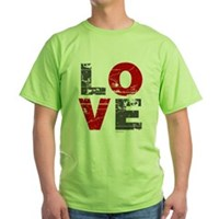 Vintage Love Green T-Shirt