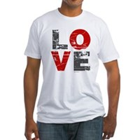 Vintage Love Fitted T-Shirt