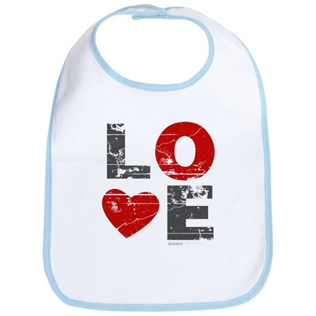 Vintage Love Heart Bib