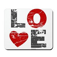 Vintage Love Heart Mousepad
