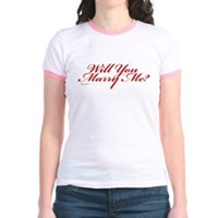 Will You Marry Me Jr. Ringer T-Shirt