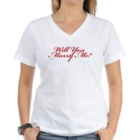 Will You Marry Me Women's V-Neck T-Shirt