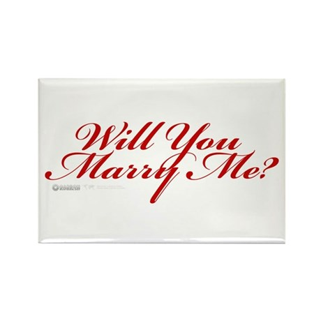 Will You Marry Me Rectangle Magnet