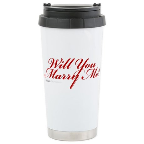 Will You Marry Me Stainless Steel Travel Mug