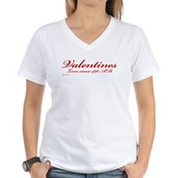 Valentines Love Since 496 AD Women's V-Neck T-Shir