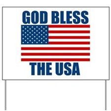 God Bless the USA Yard Sign