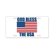 God Bless the USA Aluminum License Plate