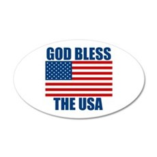 God Bless the USA 22x14 Oval Wall Peel