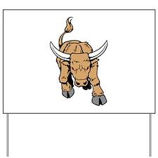 Horned Bull Yard Sign
