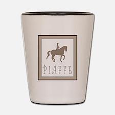 Piaffe Rider in Brown/Tan Shot Glass