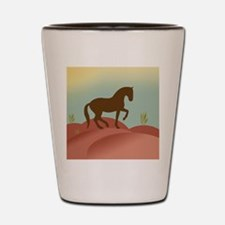 Cute Peruvian paso Shot Glass