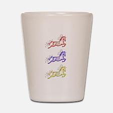 Capriole Horses Shot Glass