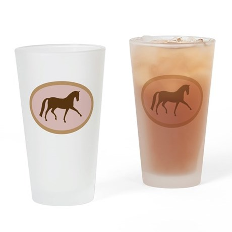 dressage horse Drinking Glass
