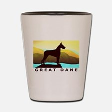 Great Dane By the Sea Shot Glass