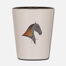 i love dressage grey Shot Glass