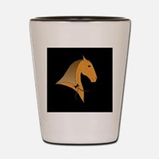 baroque dressage horse Shot Glass