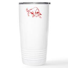 Charging Bull Travel Coffee Mug