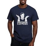 Santorum Happens Men's Fitted T-Shirt (dark)