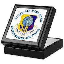673rd Air Base Wing with Text Keepsake Box