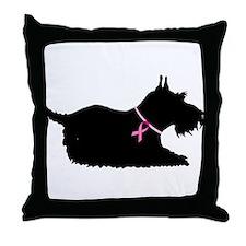 Schnauzer Silhouette Throw Pillow