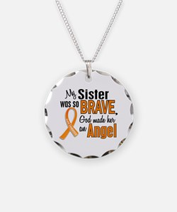 Sister Leukemia Shirts and Apparel Necklace