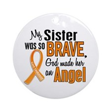 Sister Leukemia Shirts and Apparel Ornament (Round