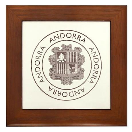 Vintage Andorra Framed Tile