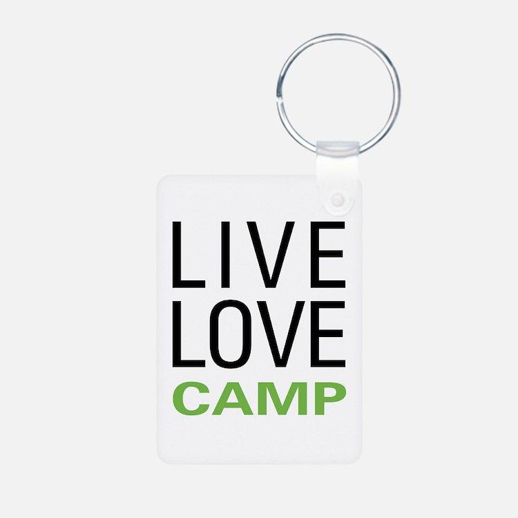 Live Love Camp Keychains