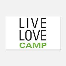 Live Love Camp Car Magnet 20 x 12