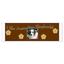 I like Australian Shepherds! Bumper Bumper Sticker